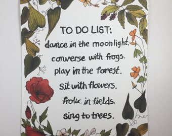 To Do List Print
