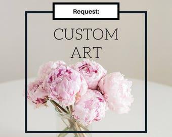 Custom wall art, personalized canvas, unique, office decor, monogram, blue, purple, pink, black, gold, silver, grey, stripes, nursery, gift