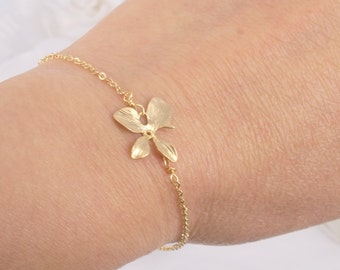 Matte Orchid and Freshwater Pearl Bracelet