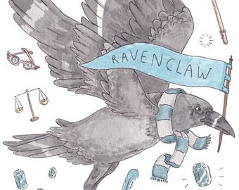 Ravenclaw House Watercolour Painting Print