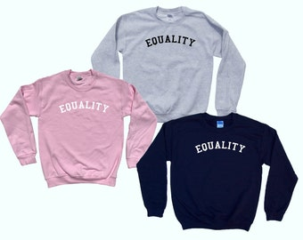 Equality - Crewneck College  Sweater