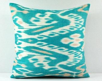 Ikat Pillow, Hand Woven Ikat Pillow Cover  IP97 (a551-18), Ikat throw pillows, Designer pillows, Decorative pillows, Accent pillows