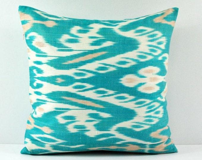 Ikat Pillow, Hand Woven Ikat Pillow Cover  a551-18, Ikat throw pillows, Designer pillows, Decorative pillows, Accent pillows