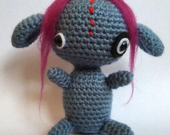 Stephanie - the cute little collectable amigurumi monster.