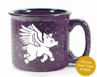Flying Pig Mug - Choose Your Cup Color