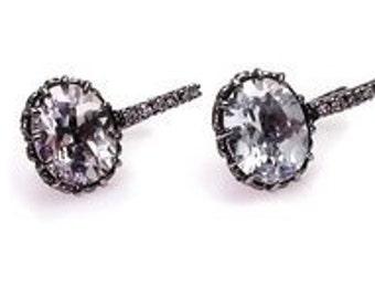 White sapphire  earrings.