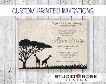 Safari Going Away Invitation
