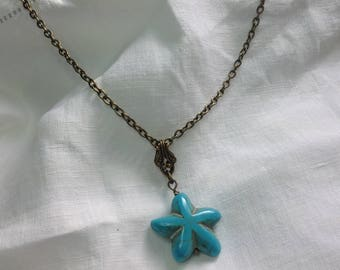 osO STELLA Oso Turquoise starfish necklace