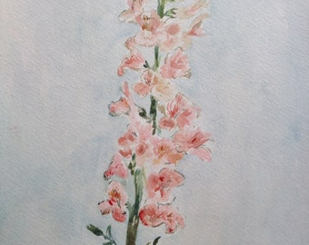 SALE - Snapdragon Painting- Original Watercolor- Floral Painting- Fine Art - Original Art  - Botanical Art - Original Painting