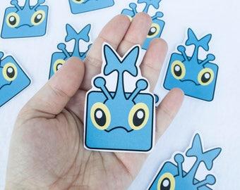 Heracross Kawaii Cute Anime Cartoon Character Sticker Stickers One of a Kind Unique Art Artwork Video Games Gamer Gaming Nerdy Handmade