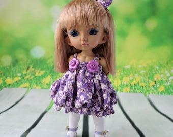 Dress for doll BJD Lati Yellow / Pukifee / IrrealDoll/Luts Tiny Delf