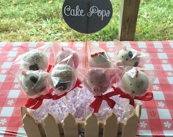Cake Pops - Farm Animals