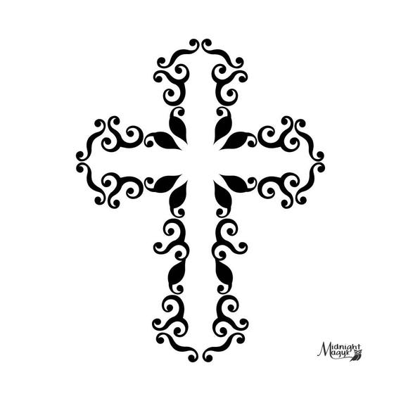 Swirl Cross Svg Png Cricut And Silhouette Cut File Cuttable