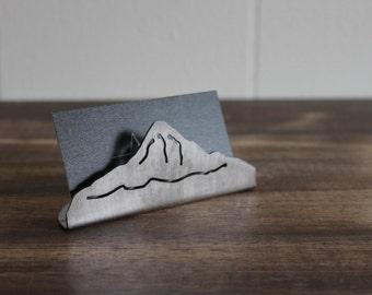 Mountain business card holder
