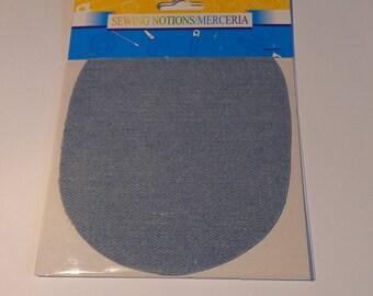 Fabric appliques iron-on light blue