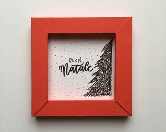Christmas frame magnet, small wishes, 9, 5x9 2.5 with fantasy of your choice