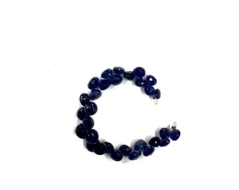 Natural Faceted 20 Piece Blue Sapphire Onion Shape Beads 6-8mm Gemstone Beads