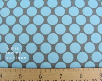 Amy Butler Fabric / Full Moon Dots in Slate  / 1 Yard Cotton Quilt Fabric