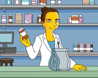 Pharmacist Gift  - Custom Portrait from Photo as Cartoon Character / Pharmacy student graduation gifts /pharmacist gifts /pharmacy grad gift