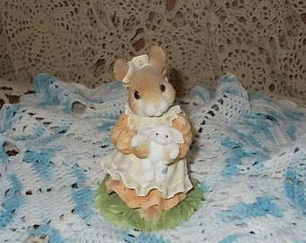 My Blushing Bunnies  1995 Your A Blessing From Above, Bunny Figurine, Vintage Figurine, Bunny Collectible Vintage Home Decor, :)S