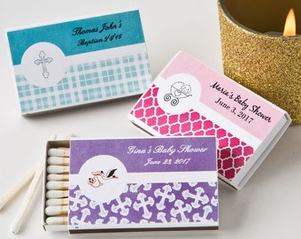 50 Personalized Baby Shower Matchbox favors - Set of 50