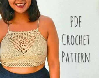 Jardinera Crop Top Crochet Pattern