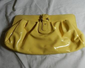 Liz Claiborne Yellow Vinyl Purse                                                                                ---          30-2