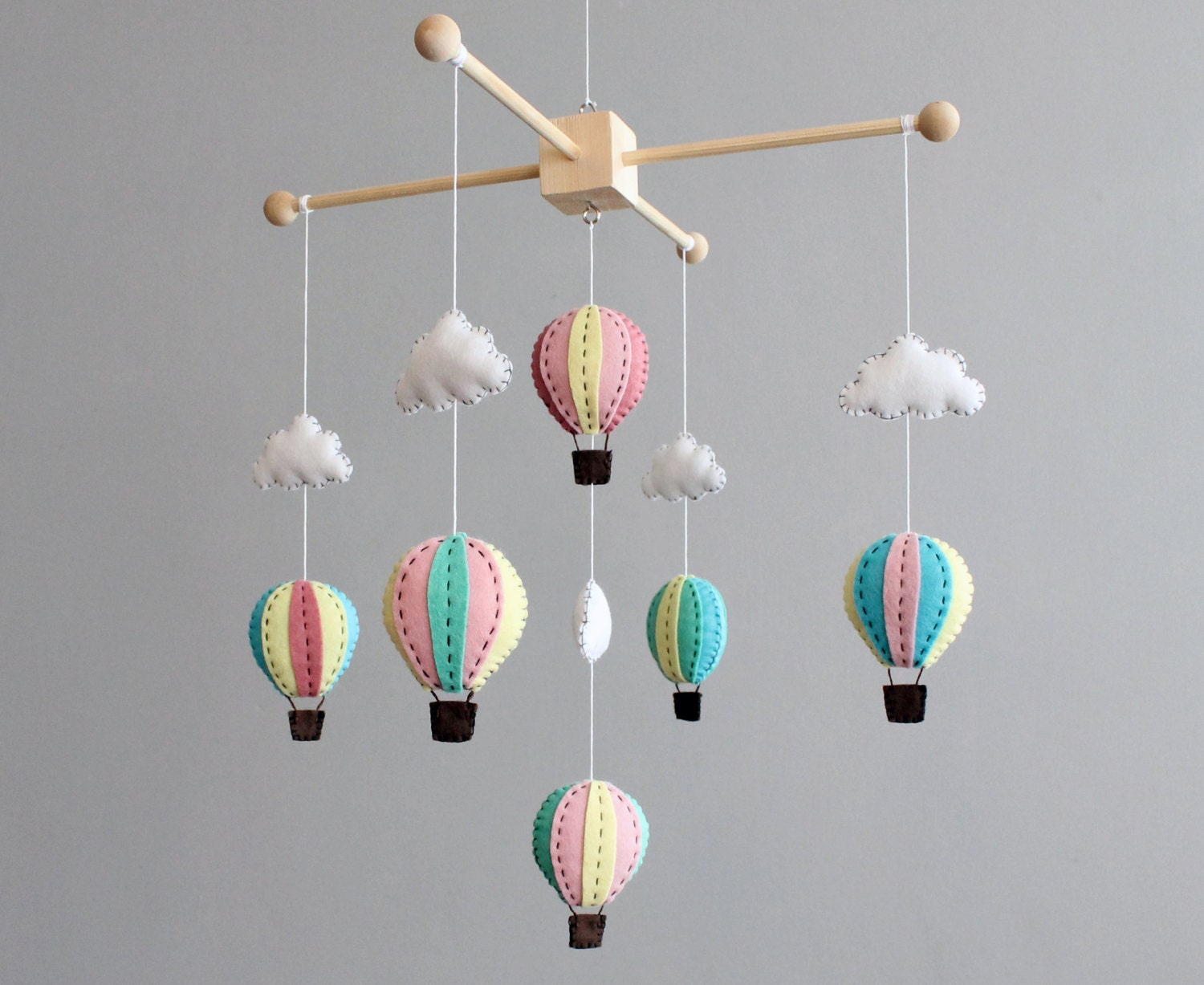 how to make your own hot air balloon crib mobile