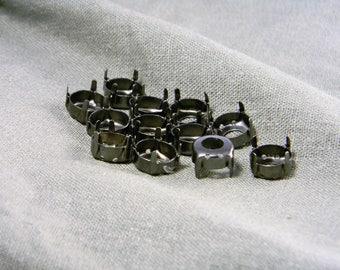 12 Gunmetal Finish 50ss/12mm Rivoli Round Settings