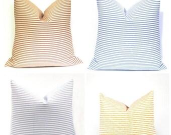 15% Off Sale PILLOWS,Euro Pillow Covers, Euro Sham, Euro Pillow, Navy, Ticking Pillow Throw Pillow covers - Decorative Pillows - Euro Pillow