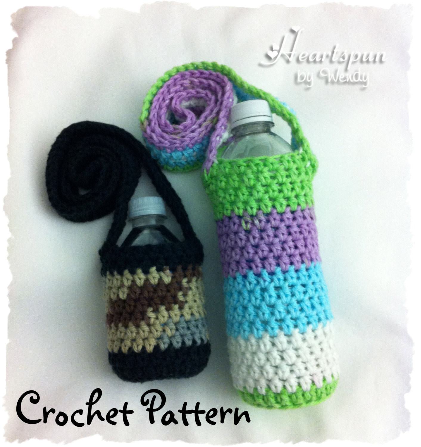 CROCHET PATTERN to make a Changing Colors Water Bottle Holder