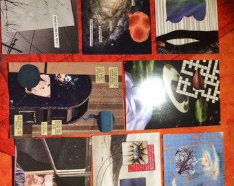 Ensemble de 8 cartes postales de 2015 !
