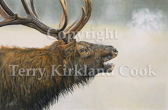 The Monarch ~ Fine Art Giclee Print of an Original Copyrighted Painting by Terry Kirkland Cook