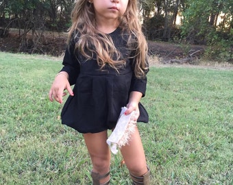 The eleanor baby / toddler romper (black, mustard or burgundy)