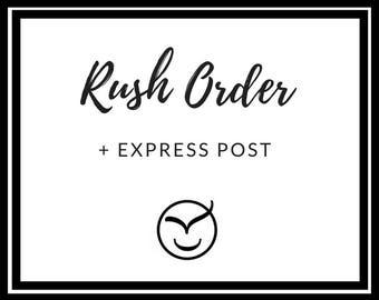 RUSH ORDER + Express shipping