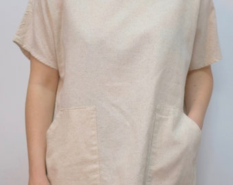 Natural Cotton Tunic (loose weave fabric)
