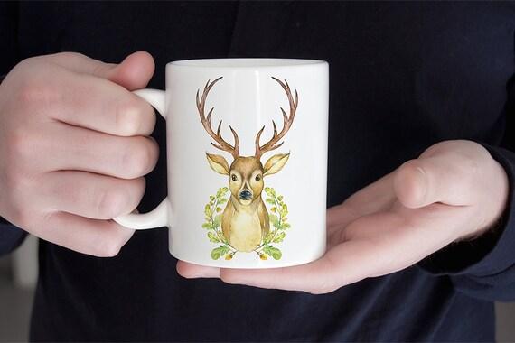 Coffee Mug Deer with Antlers Coffee Mug - Buck Mug