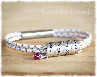 Mothers Day Personalized Bracelet • Womens Graduation Gift • Best Friend Gift • Long Distance Friendship