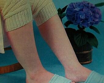 Knee Warmers Vintage Knitting Pattern
