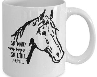 So many cowboys horse head - coffee mug