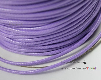 Sale 100 Yards/roll 2mm Light Purple Wax Cords, Environmental Protection Wax Cords WS206