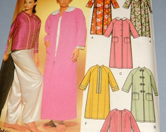 Simplicity 7018 6 Made Easy Robes and Bed Jacket sizes M, L, XL Uncut