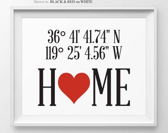 Latitude Wall Art Coordinates Print Housewarming Gift New Home Gift Entryway Decor First Home Gift Custom Decor Coordinates Latitude Print