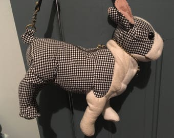 Fuzzy nation Boston terrier dog purse