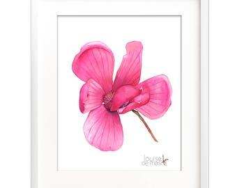 Magnolia print of watercolor painting digital print, 4 sizes, Watercolor Magnolia downloadable print, Digital downloadable magnolia print