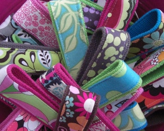 5 Fabric Keychain- Key Fob- Wristlet- for 30.00-Your choice-READY TO SHIP