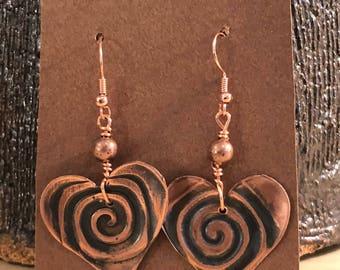 My Heart Swirls For You Earrings