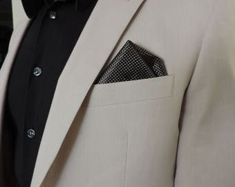 Glass or Carbon Fiber Pocket Square, Plain Weave, Suit Pocket Square, Classy Suit, Men's Handkerchief, Men's pocket square, Wedding