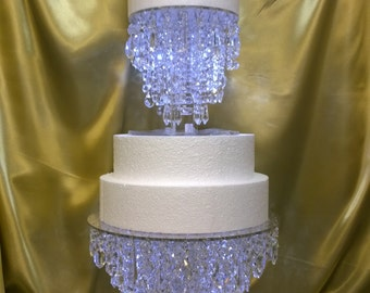 Awesome Crystal Wedding Cake Stand, Chandelier Style   Many Sizes