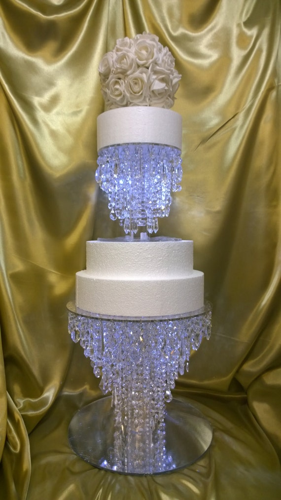Crystal Wedding Cake Stand Chandelier Style Many Sizes